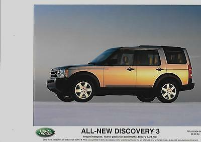 Land Rover 'all New' Discovery 3  Original Press Photo 'brochure Connected' 3 Of