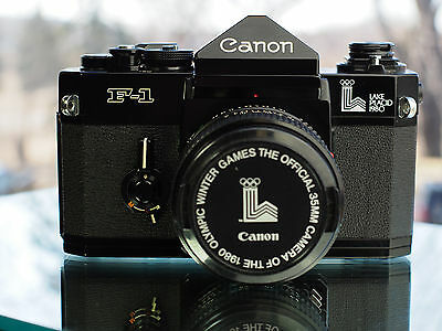 Canon F-1 Lake Placid 1980 + 50mm f1.4 FD Olympics Official Winter Games Camera
