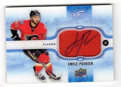 Emile Poirier Nhl 2015-16 Upper Deck Ice Signature Swatches (Calgary Flames)