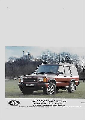 Land Rover Discovery Mm Sp.edition Original Press Photo 'brochure'connected'