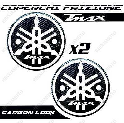 Pair Clutch Covers With Logo White T-Max Tmax 500 530