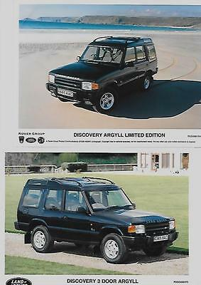 2 Land Rover Discovery Argyll Ltd.ed. Original Press Photos 'brochure'connected'