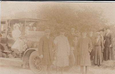 Rp Postcard Charabanc Outing Papworth ?