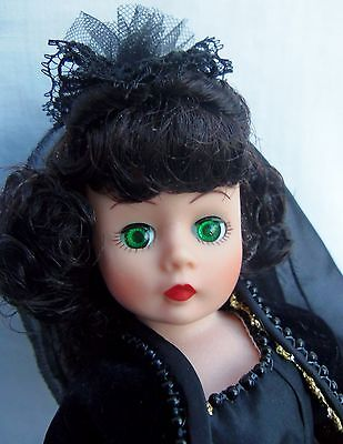 """Madame Alexander 10"""" SCARLETT AT THE BALL in Black (Mourning) 1103 MIB 1992 GWTW"""