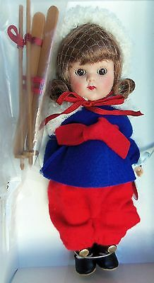 Modern Vogue Ginny SKIER 1952 Reproduction MIB doll LE 1000 pc. Tosca Hair