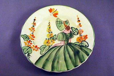 "SWEET MYOTT & SON HAND PAINTED 5.25"" SWEET SEVENTEEN PLATE - c.1940's -PERFECT"