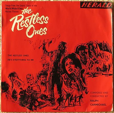 "THE RESTLESS ONES vinyl picture sleeve 7"" 1965 Herald Christian 60's beat EX/EX+"