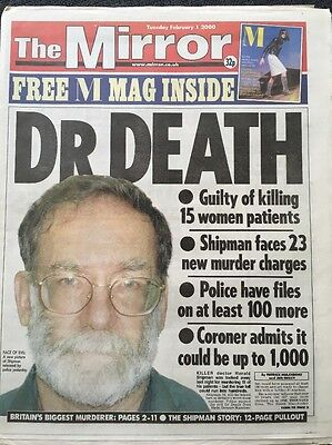 The Mirror Newspaper - Feb 1st 2000, Dr Death - Shipman Jailed