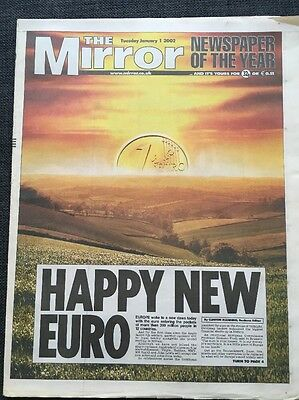 The Mirror Newspaper - Jan 1st 2002 - Happy New Euro