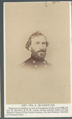 Civil War CDV Union General John McClernand of Illinois