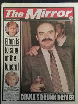 The Mirror Newspaper - September 3rd 1997 - Princess Diana Death