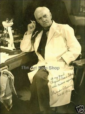 Alexander Fleming signed photo print