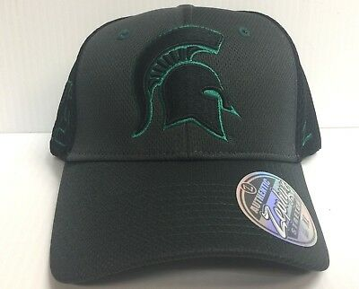 newest eed92 5d244 Michigan State Spartans Cap Zephyr Stretch Fit Fitted Black Ultra Hat NCAA