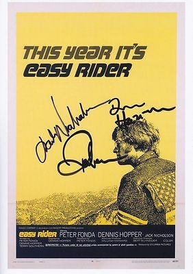 Easy Rider signed movie poster print