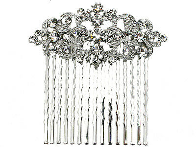 Hair Comb Clear Crystal For Flower Girl Bridal Bridesmaid Wedding Party Prom
