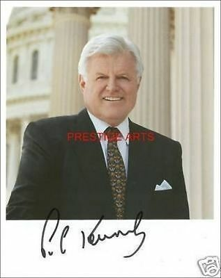Ted Kennedy signed photo print