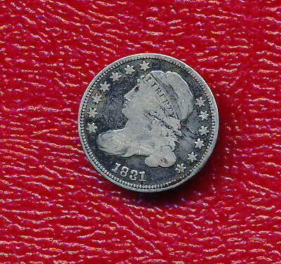 1831 Capped Bust Silver Dime **nice Circulated Early U.s. Dime** Free Shipping!