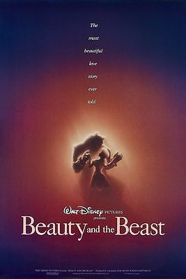 Beauty and the beast movie poster A4 Size