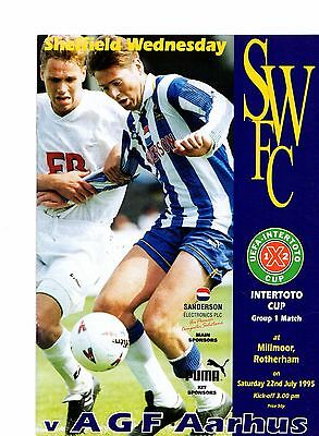 1995-1996 Sheffield Wednesday v AGF Aarhus @ Rotherham Inter Toto Cup