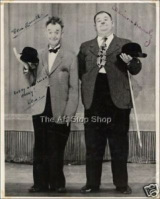 Laurel and Hardy autograph photo print