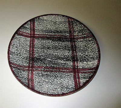 Vintage Blue Ridge Pottery Rustic Plaid Dinner Plate Southern Potteries USA