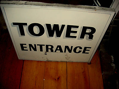 Awesome Big Old Sign Says Tower Entrance Aafa Nr