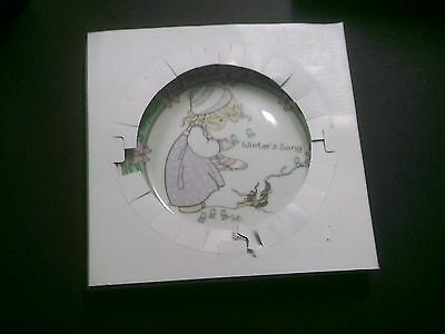 """Precious Moments """"Winter's Song"""" Collector Plate"""