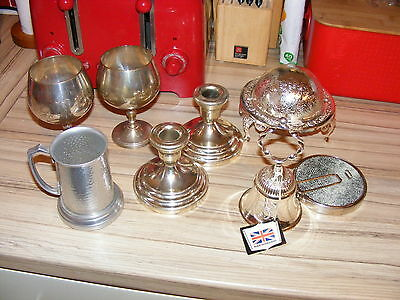 Job Lot of Some Silver Plated items - for DOG RESCUE CHARITY