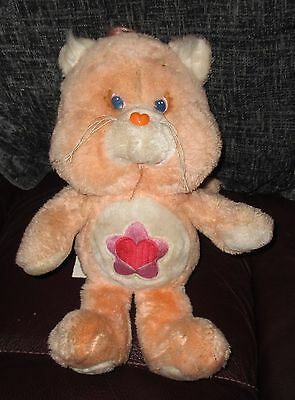 """Very Rare Vintage1985 Proud Heart Cat Care Bear Cousins 13"""" Kenner Soft Toy"""