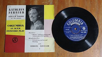 "'Spring is Coming' KATHLEEN FERRIER 7"" 7 inch single EP Columbia SED 5526"