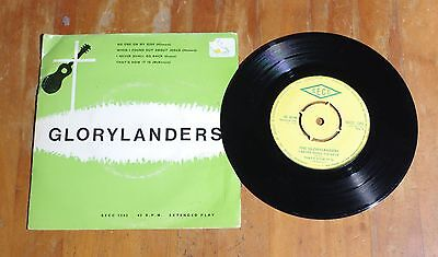 "'No One on My Side' THE GLORYLANDERS 7"" 7 inch vinyl single EP SECC 1202"