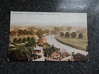 Photochrom postcard - Hereford & River Wye from cathedral - Herefordshire