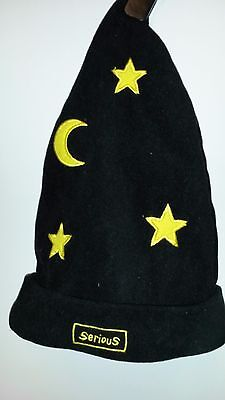 Black Yellow Magicians Serious Hat Size 5 - 8 Yrs