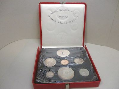 1867-1967 Canada Uncirculated Silver Mint 7 Coin Set