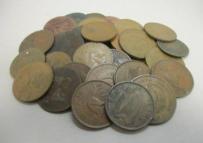 43 Large Foreign Copper Coins Various Dates & Countries