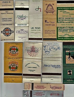 Lot Of 20 Different California Matchbook Covers.  #1