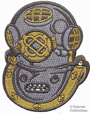 SCUBA DIVING Mark V MK-5 US Navy Helmet PATCH embroidered NEW IRON-ON APPLIQUE