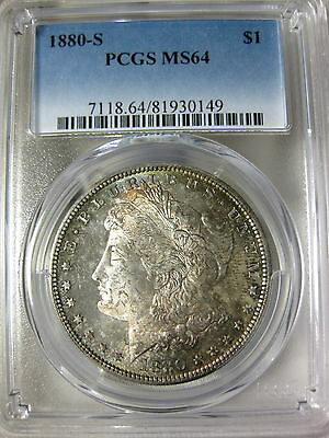 1880 S Morgan Dollar PCGS Certified MS 64