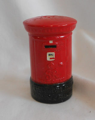 STUNNING Vintage Collectable RARE ANTIQUE RED LETTER POST BOX Ceramic PEPPER POT