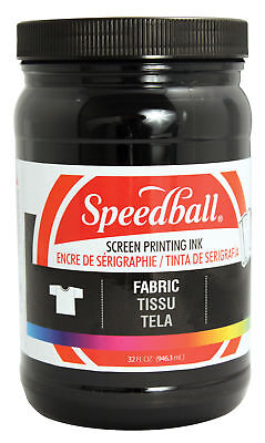 Speedball Art Products 4600 Fabric Screen Ink Black 32Oz