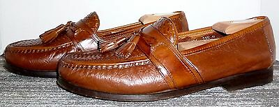 Exceptional Johnston & Murphy Italian Made Leather Tassel Loafers Size 11.5 M!