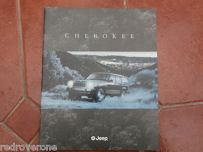 Jeep Cherokee brochure .1996. Collectors condition.Chrysler Jeep
