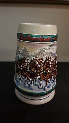 1993 Budweiser Clydesdale Christmas Stein mug Special Delivery