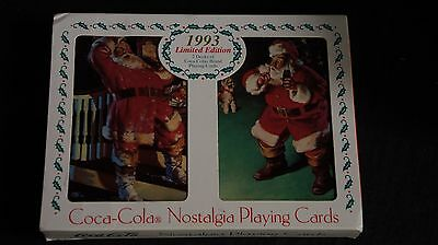 1993 Coca Cola Limited Edition Nostalgia Playing Cards Santa Claus