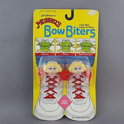 Muppets Miss Piggy Bow Biters for shoelaces Vintage NIP