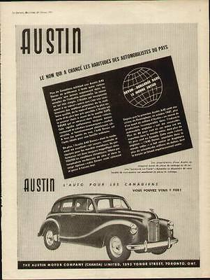 1951 Austin Devon 4-Door Sedan French ad