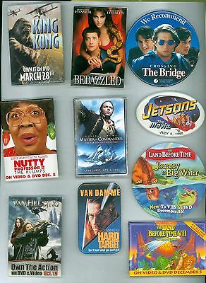 10 Vintage 80s-90s Motion Picture Advertising Pinback Buttons Nutty Professor II
