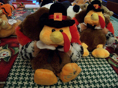 Adorable Plush Turkey  Ready To Fly To Your House For Thanksgiving New !