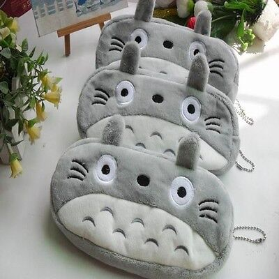 Kids Gray Totoro Novelty Cute Pencil Case Purse Cosmetic Pouch Bag Stationery