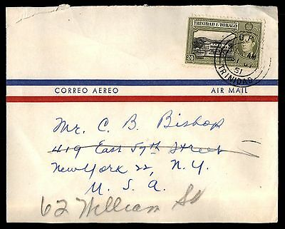 1961 Trinidad & Tobago 24C Airmail To United States New York Cover